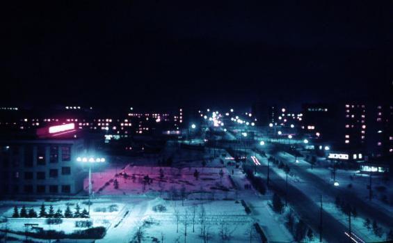 Вид на ул.Мельникайте (снято из окна общаги Котовского-Мельникайте)
