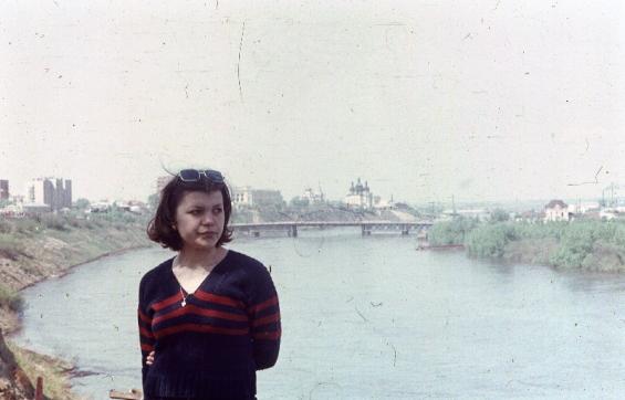 Вид на старый мост (сейчас Мост Влюблённых)